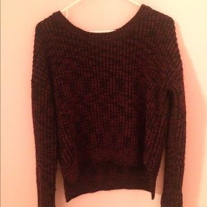 Forever 21 Red and Black Sweater